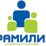 Магазины Фамилия в Петербурге
