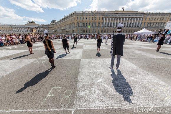 Живые шахматы на Дворцовой площади 2014