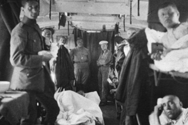 . 1921.  Германия, Хавельбург. Репатриация русских военнопленных. Госпитальный поезд МККК.