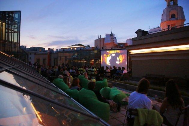 Кинопоказы на крыше Новой сцены Александринского театра