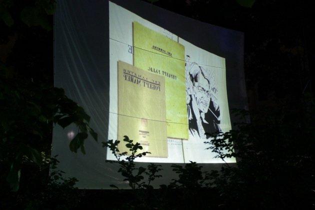«А-кино» в саду Фонтанного Дома