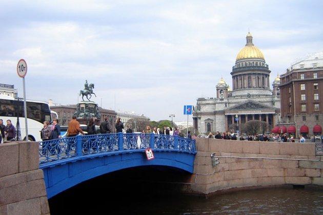 Синий мост в санкт петербурге