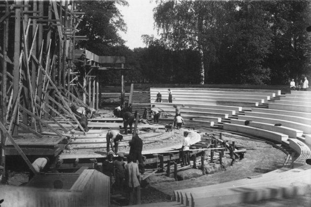Строительство летнего театра на 1600 мест. 1933