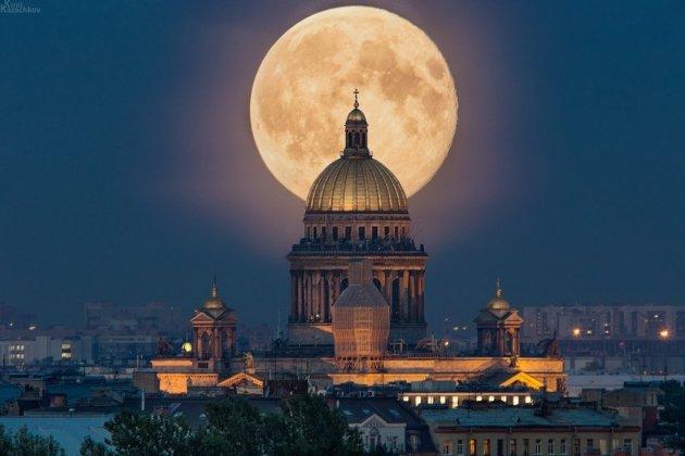 Суперлуние 2015 в ночь на 30 августа в Петербурге – время, во сколько начнется