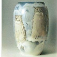 Ваза «Совы на снегу» 1908
