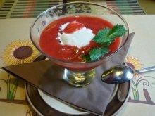Клубничный крем-суп