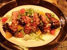 Салат с горгонзолой с грейпфрутом